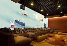 The Moon Rabbits 3D Full Wall Mural Photo Wallpaper Printing Home Kids Decor