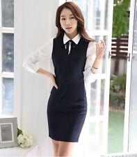 Business Vest Waistcoat suit with Skirt formal office ladies elegant work wear