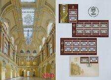 Rumänien 2010 Nationalbank,Banknote Mi.6464-65,TAB,K,K+TAB,KB,Block 477,FDC
