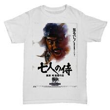 SEVEN 7 SAMURAI KUROSAWA MOVIE FILM KUNG FU 70S CHINESE JAPANESE T SHIRT