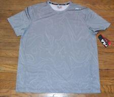 Fila Sport Performance Provent Short Sleeve Shirt Gray Mens Wicking Top Workout