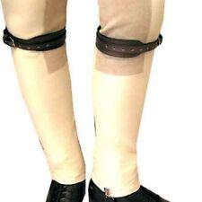 NEW  Leather Jodhpur Jod Garter Straps - Black by Intrepid International