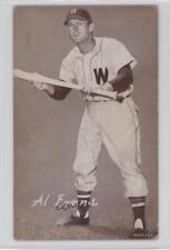 1947 1947-66 Exhibits W461 #ALEV Al Evans Washington Senators Baseball Card