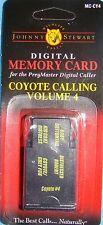 JOHNNY STEWART COYOTE CALLING VOLUME 4 PREYMASTER MEMORY CARD PM-3 & PM-4 NEW