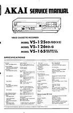 Akai Original Service Manual  für VS-125 / 126 / 165