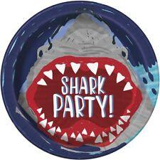 Tiburón Papel 23cm platos fiesta surf's Up MAR océano olas Chomp