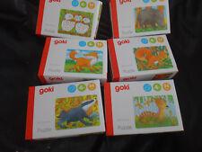 Mini- Holz-Puzzle Tiere für Kinder mit  24 Teilen