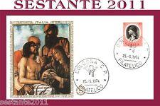 ITALIA FDC FILAGRANO G.NNI BELLINI GIAMBELLINO CRISTO MORTO 1974 A. BOLOGNA B93