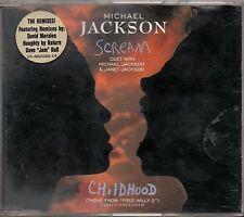 MICHAEL JACKSON & JANET CD single SCREAM 5 tracce REMIX + CHILDHOOD