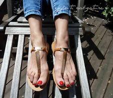 Scarpe Basse Donna Infradito Sandali Gioiello Dettagli Dorati Mare- Nero o Camel