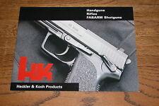 Heckler & Koch, Fabarms V3 2003 Firearms Catalog Excellent