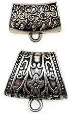 Laliberi Scarf Charm Jewelry 2 Sliver Bails Floral & Swirls  EK Success NEW