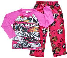 NEW SZ 6-12 KIDS GIRLS CHILDREN WINTER FLEECE MONSTER HIGH PJS PYJAMAS SLEEPWEAR