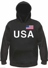 Estados unidos Hoodie sudaderas-negro-s hasta 3xl-United States America América