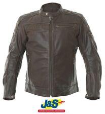 BKS Retro Leather Motorcycle Jacket Motorbike Touring Biker Mens Brown J&S