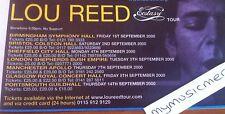 LOU REED - UK ECSTASY TOUR 2000 - original advert fridge magnet