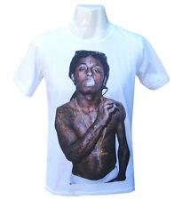 Mens T-shirt Vintage Tee Shirt Lil Wayne Poster Wiz Khalifa Funny Cool Tshirt