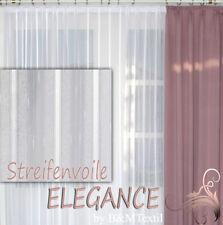 Fertiggardine VOILE Store Streifenvoile weiß mit Faltenband&Bleiband ELEGANCE