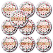 VINTAGE personalizzato Nubilato distintivi/Specchio Regalo-Nome/titolo-acquista 4 ottenere 1 GRATIS