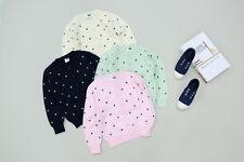 New Childrens Kids Winter Junior Jumper Knitted Sweater Cardigans Stars Design