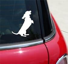DACHSHUND BEGGING DACHSHUNDS DOG GRAPHIC DECAL STICKER ART CAR WALL DECOR