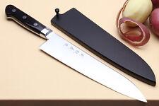 Yoshihiro High Speed Steel Gyuto Japanese Chefs Knife Black Pakkawood Handle