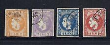 ROMANIA 1869-70 (Scott 33-36) F/VF USED *read desc*