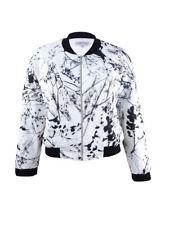 Tahari Women's Plus Size Floral-Print Bomber Jacket