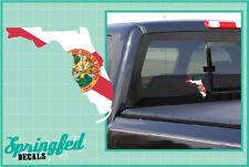 FLORIDA State Shaped Flag Vinyl Decal #1 Car Truck Window Sticker CUSTOM SIZES