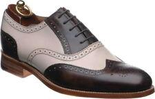 Handmade Black & White Leather Correspondent Wingtips for men two tone men shoes