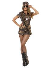 Army Girl Sexy Costume Soldatin Kostüm kurz Military Camouflage Damen Fasching