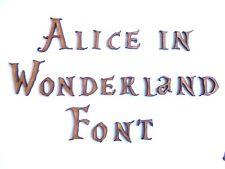 ALICE IN WONDERLAND WOODEN LETTERS lettering words craft card wall art door sign