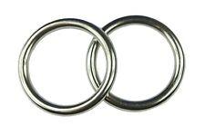 Edelstahl rund Ringe, Öse, 3/4/5/6/8/10 mm, V4A, rostfrei, Doppelpack (2 Stück)