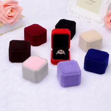Classic Velvet Engagement Wedding Earring Ring Pendant Jewelry Display Box