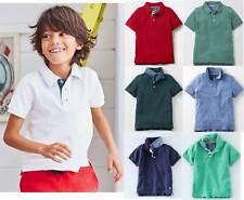 Mini Boden boys cotton pique polo shirts, various colours age 2 - 16 years