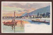 Italy Como LENNO artist drawn u/b PPC