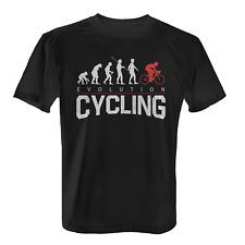 Evolution Cycling Herren T-Shirt Fun Shirt Radfahrer Fahrrad Fahrer Rad Sport