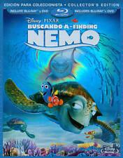 Finding Nemo / Buscando (Blu-ray / Dvd, 2012, 3-Disc Set, Spanish - Sealed