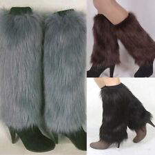 Winter Fashion Women Boot CoversFurry Solid Color Faux Fur Soft Leg Warmers GI
