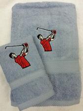 Personalizzata Giocatore di Golf Asciugamano Rosso Top Set Regalo Asciugamani e Viso