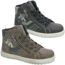 INDIGO Kinder High-Top-Sneaker Boots gefüttert 451 044 schwarz, braun Gr.33-39