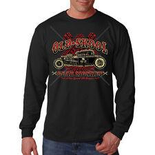 Old School Gear Monkey Hot Rat Rod Car Auto Racing Long Sleeve T-Shirt
