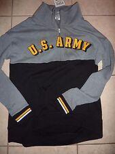 "VICTORIAS SECRET PINK APPLIQUE RARE ""U.S.ARMY"" 1/2 ZIP SWEATSHIRT/JACKET NWT"