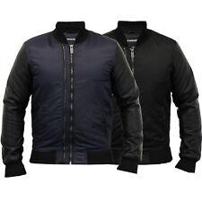 mens MA1 jacket Seven Series coat PU PVC harrington bomber padded winter new