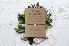*True Friends Wish Bracelet*Friendship Card Gift Best Friend BFF Birthday Gift