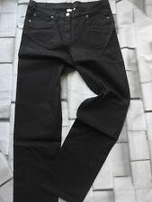 Hose Stoffhose Jeans Größe 44 bis 54 Schwarz Metallic Look (259) NEU