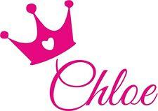 Nombre Personalizado Princesa/corona Pared Arte, Niña/Dormitorio de Niños, Personalizadas Pegatina De Vinilo