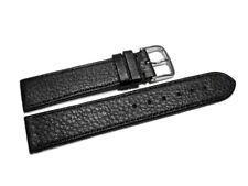 Uhrenarmband Hirschleder genarbt schwarz 12mm 14mm 16mm 18mm 20mm 22mm 24mm