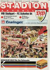 BL 91/92 VfB Stuttgart - FC Schalke 04