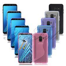 para Samsung Galaxy A8 2018 A530 NUEVO Gel Funda de teléfono + VIDRIO TEMPLADO